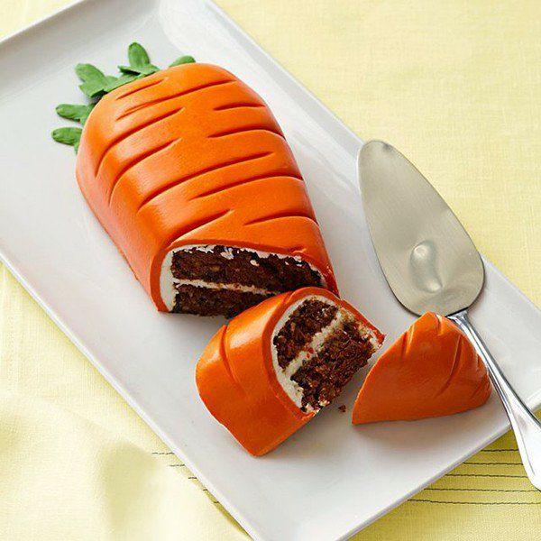 osterkuchen backen schokolade sahne karottenform
