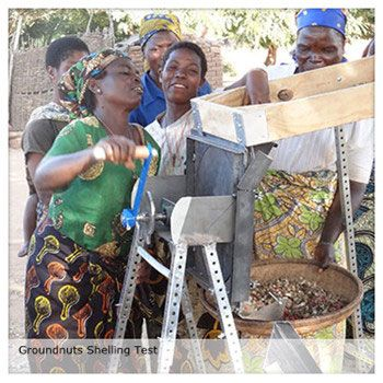 Groundnuts Shelling Test in  Tanzania