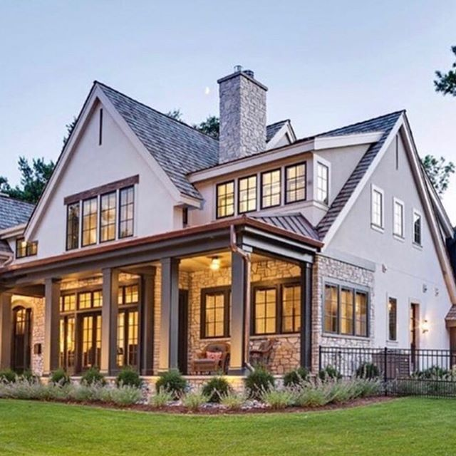 Gutters We Need Some It S On The To Do List When I Saw This Beauty With Copper Gutters I Got All K Modern Farmhouse Farmhouse Exterior Farmhouse Design