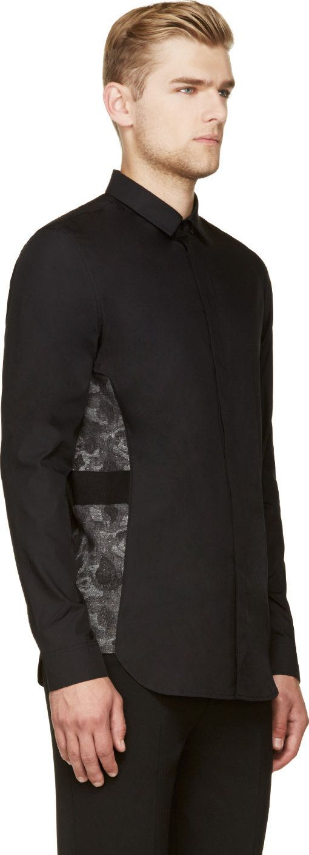 Cy Choi: Black Embroidered Trim Shirt | SSENSE