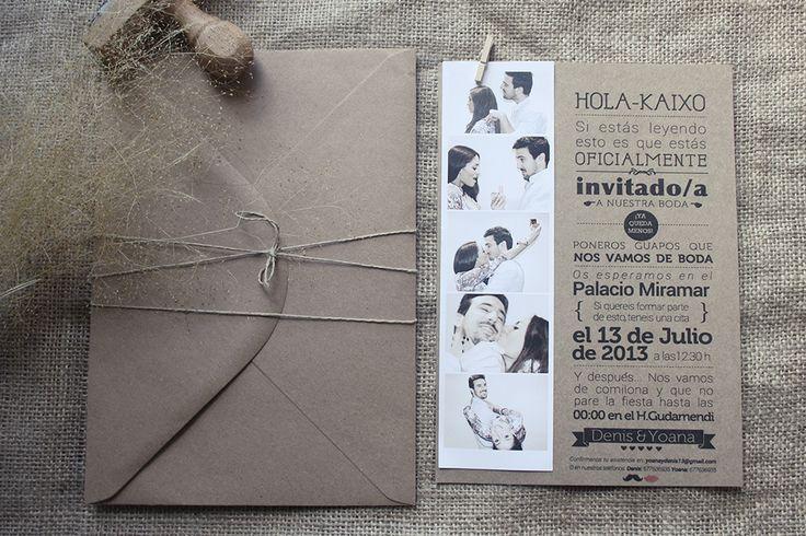 invitaciones de boda personalizadas / invitaciones de boda originales