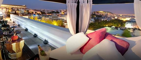 Sky Bar Tivoli, um terraço com vista para Lisboa
