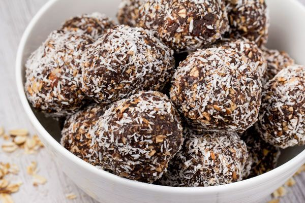 No Bake Chocolate Coconut Energy Bites (Vegan)- Veggie Chick Recipes