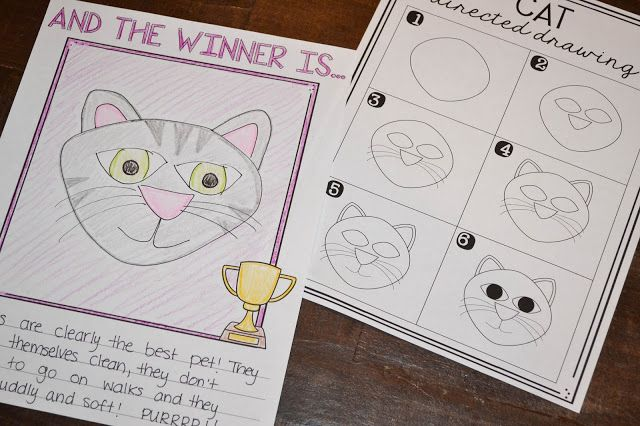 Cats vs. Dogs - A Reading and Writing Project! Students choose the *BEST* pet and write their opinions! Directed drawing for both cat and dog included!