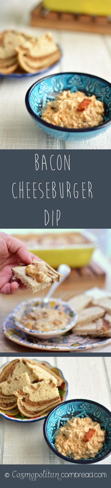 Bacon Cheeseburger Dip from Cosmopolitan Cornbread | #SundaySupper Appetizer