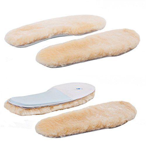 ABUSA Women's Cozy Warm Thick Fleece Sheepskin Insole 2-Pack, 10 B(M) US
