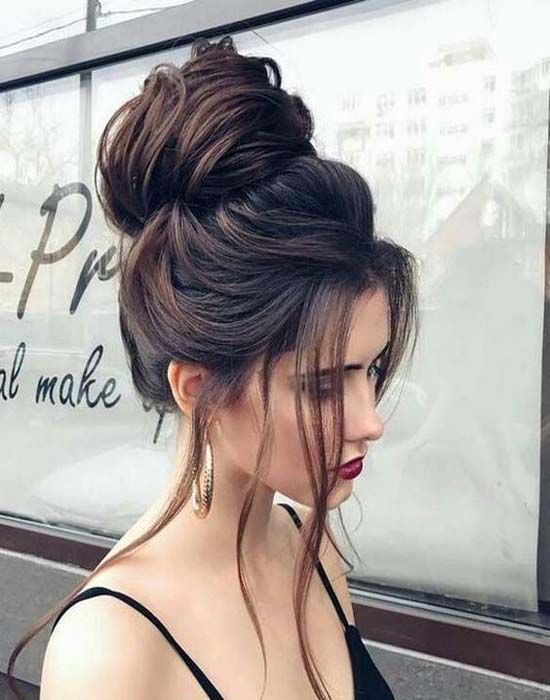 messy bun for 2017