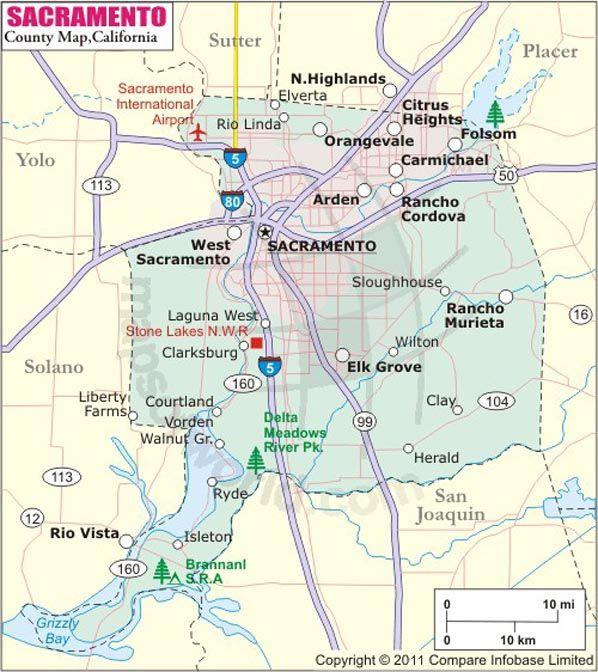 Sacramento County Map Map Of Sacramento County California