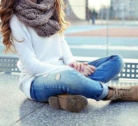 Chilly winter outfit. Love!