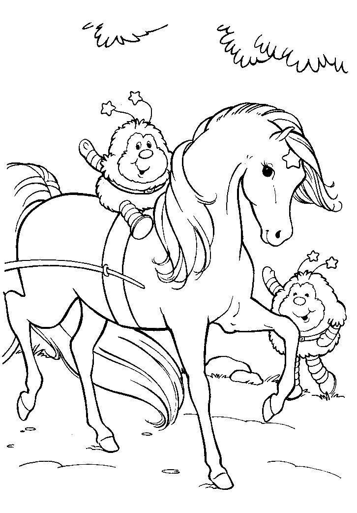 49 best Coloring Pages Rainbow Brite images on Pinterest