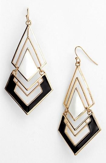 Fun! Triangle Chandelier Earrings