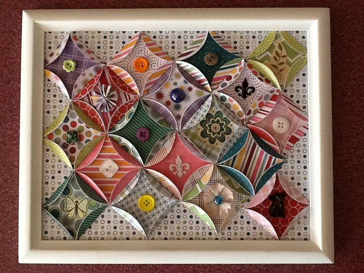 paper quilt - I would like to add little bits of mini-quills in the center of the circles instead of buttons.