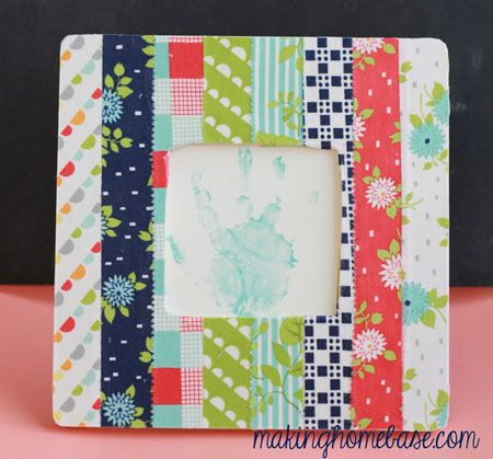makinghomebase fabric covered picture frame