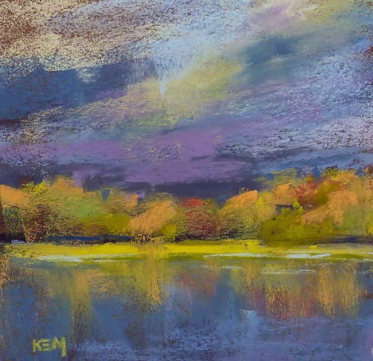"""""""Morning drama"""" by Karen Margulis - pastel"""