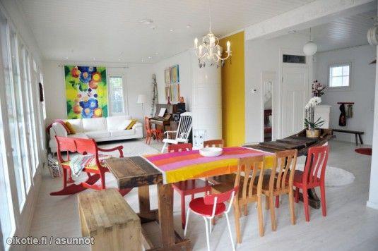 Myytävät asunnot, Sammalhuoneenkatu 29 Silikallio Rauma #ruokailutila #oikotieasunnot