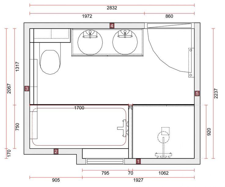 Célèbre Les 25 meilleures idées de la catégorie Salle de bain 6m2 sur  GM47