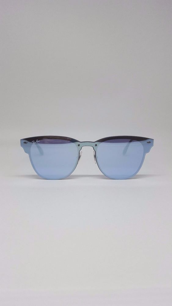 7bb4ee3d908 Ray-Ban Blaze Clubmaster RB3576N 90391U- Violet Mirrored Sunglasses  RayBan   Square