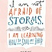 """Design Mom Collection: Louisa May Alcott """"Little Women"""" Not Afraid of Storms Quote, Hand-Lettered Print, 11"""" x 14"""". $30.00, via Etsy."""