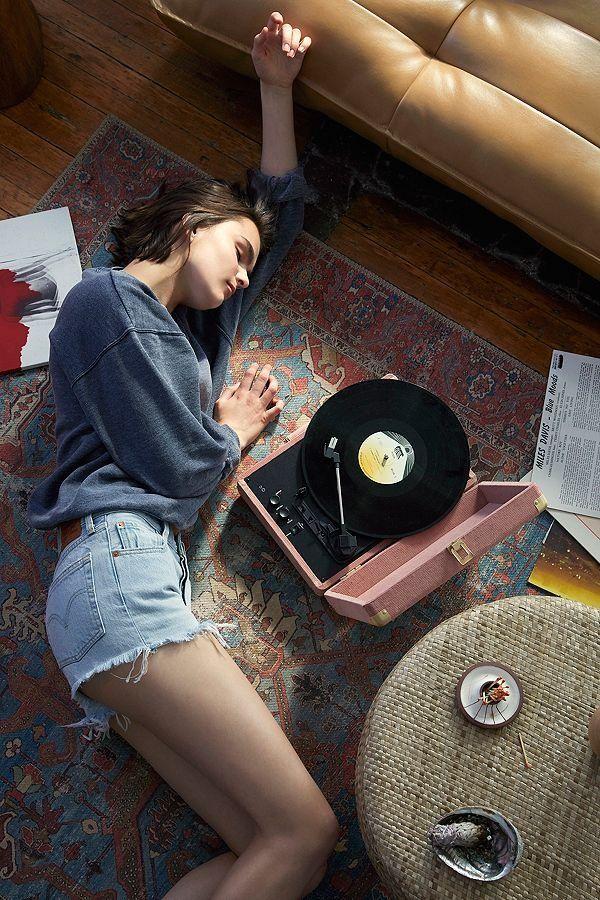 Crosley Uo Exclusive Corduroy Cruiser Bluetooth Record Player Record Player Vinyl Record Player Vinyl