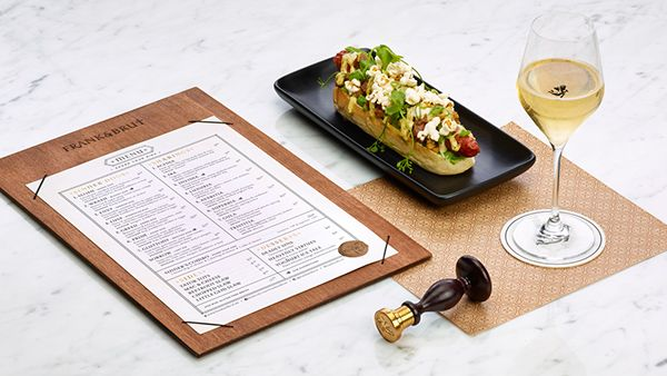 FRANK & BRUT - hot dogs and champagne on Behance