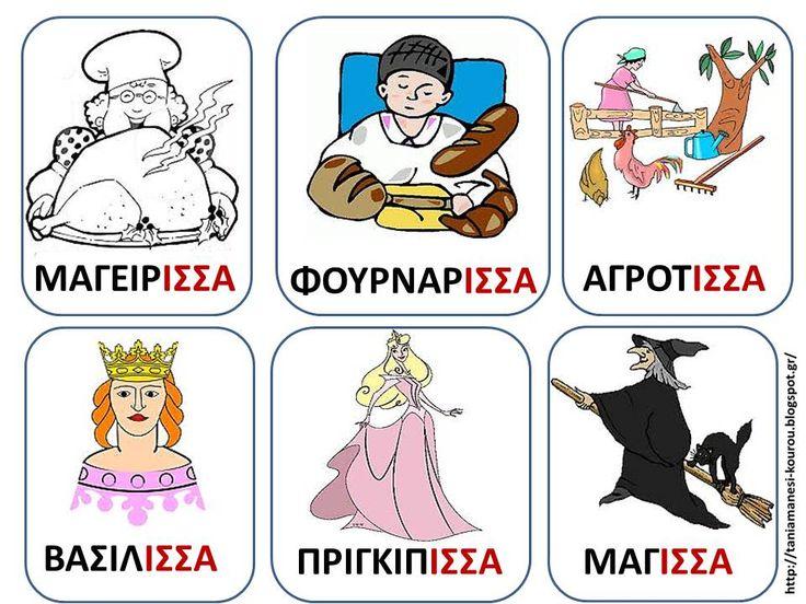 Δραστηριότητες, παιδαγωγικό και εποπτικό υλικό για το Νηπιαγωγείο: Παίζοντας με τις λέξεις σε -ισσα: Γλωσσική Ανάπτυξη στο Νηπιαγωγείο