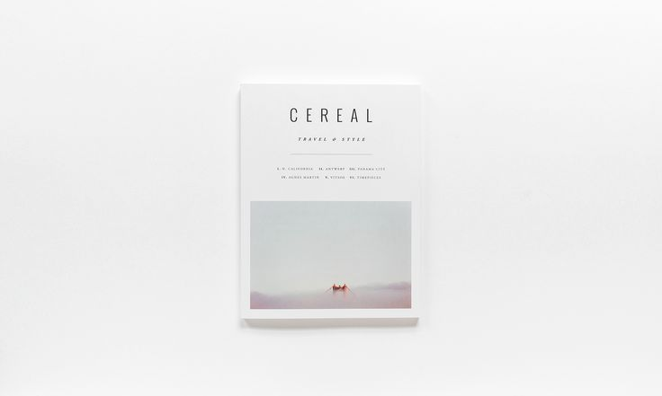 CEREAL  (2015). Designed in Bristol and Exeter House. Creative director Rich Stapleton.