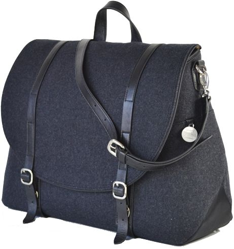 PacaPod | Wool mix changing bag | satchel style A very grown up style changing bag. Like the tweed mix and am sure J would to.