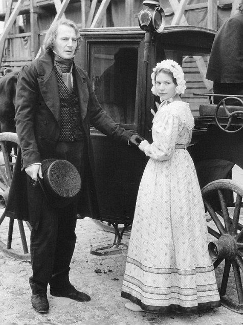 Claire Danes as Cosette and Liam Neeson as Jean Valjean, Les Miserables