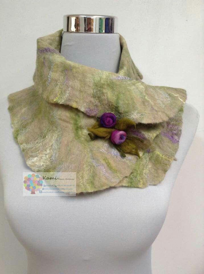Cuellos de fieltro, en lana merino, delicados y elegantes