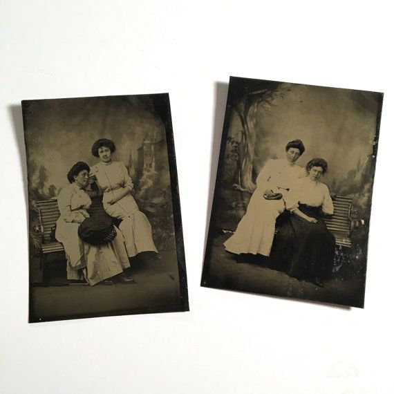 Pair of Nice Mother-Daughter Tintypes 19th by BittenbenderAndMoll