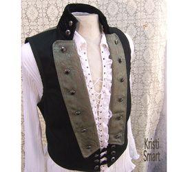 same vest changes but contrast black/gray