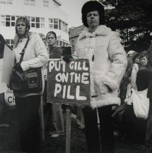 Ans Westra Pro Abortion Rally, Pidgeon Park, Wellington, 1977 Silver Gelatin Print 280 x 280 mm