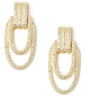 The Eva Mendes Gold Texured Earrings.