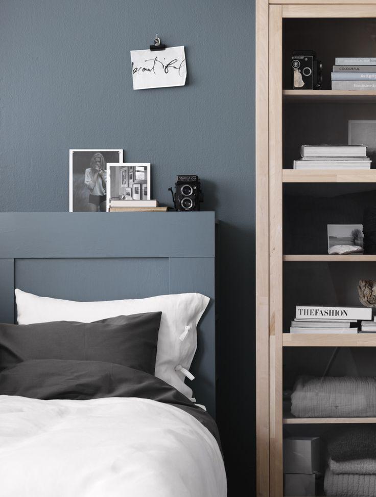 Till det här inlägget för IKEA Livet hemma så målade jag in huvudgaveln Brimnes i samma nyans som väggen. Ett fin lösning för att få en harmonisk känsla i sovrummet. Gaveln har ett skönt...