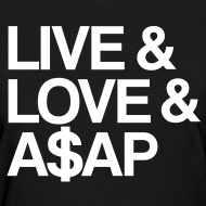 Asap Rocky, or A$AP Rocky, is going to take 2013 by storm. Represent with this swaggerific t-shirt.