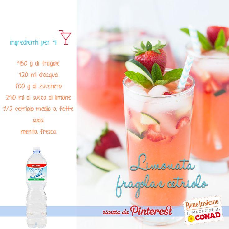 Voglia di un cocktail analcolico in grado di rinfrescare con gusto le tue giornate? Prova la limonata fragola e cetriolo che ci ha conquistati su #Pinterest! :)