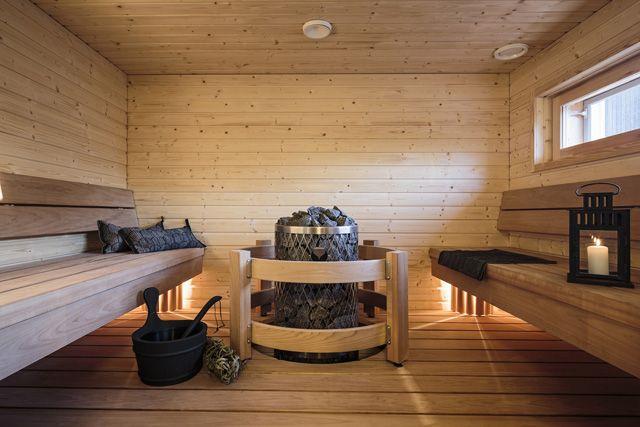 BoKlokin pihasauna, BoKlok sauna. Photo: Skanska Kodit www.boklok.fi