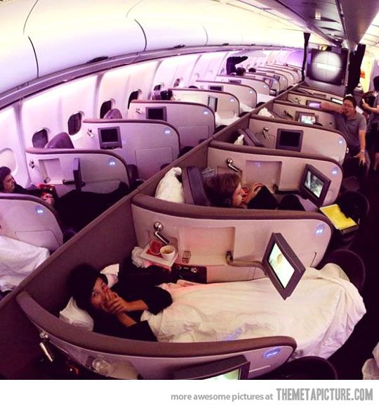 Can I just go on this plane whenever I have to travel? This is amazing!