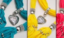 $24 for 3 Beautiful Jewelled Scarves - Multiple Colours - Tax Included ($ 80 Value)