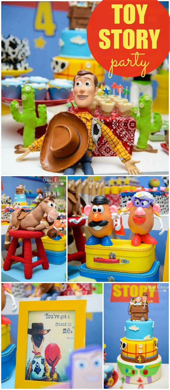 What an amazing Toy Story birthday party! See more party ideas at CatchMyParty.com!