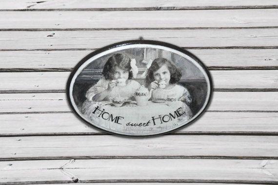 Plaque Home sweet home panneau de porte signe par AgaArtFactory