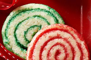 These festive red and green pinwheel sugar cookies are a treat to eat—and lovely to look at, too. Santa will be very pleased.