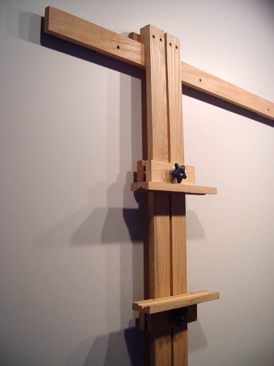 Close Up Of Wall Easel Mast Diy Space Saver Studio