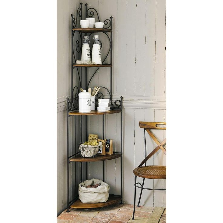 Etagere d 39 angle luberon for Etagere d angle salon