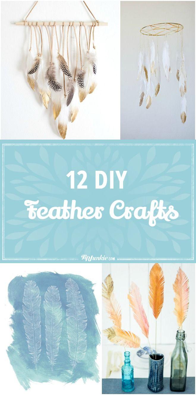 12 DIY Feather Crafts via @tipjunkie