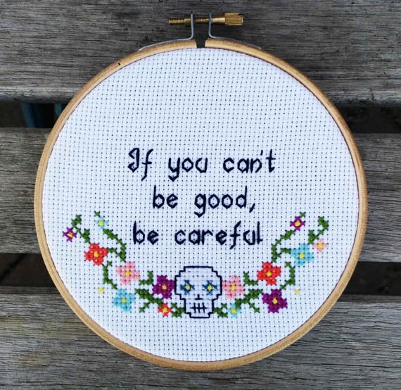 Feminist cross stitch subversive cross stitch If you