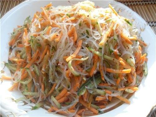 Рецепты китайской кухни салат из прозрачной лапши