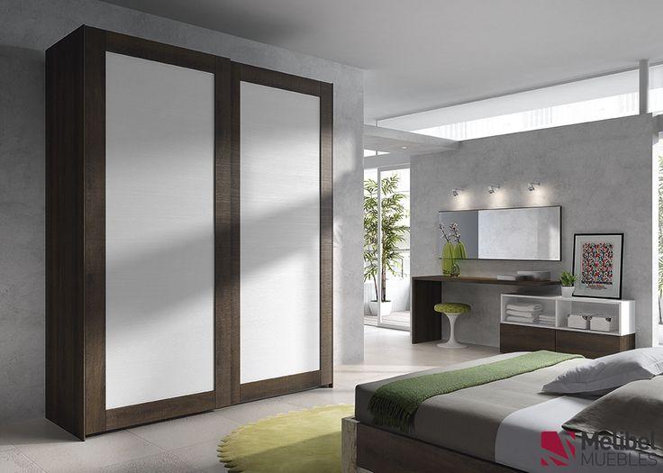 Armario correderas con marco de madera dormitorios y for Dormitorios matrimonio juveniles modernos