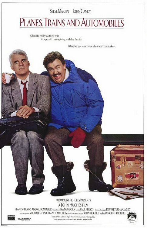 Planes, Trains & Automobiles (1987) This film makes me laugh out loud, but is also extremely heart warming.