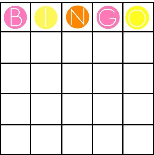 Mais de 25 ideias únicas de Bingo card template no Pinterest Bingo - blank card template